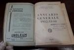 reverse: ANNUARIO GENERALE 1932-33 Anno XI. Touring Club Italiano. Spesso e molto curioso. Conservazione discreta.