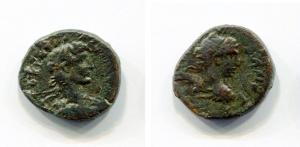obverse: Adriano (117-138). Koinon of Macedon. AE (4,99 gr. D.\: Busto di Adriano a destra. R.\: busto Divo Traiano a destra. Varbanov 21. qBB. R.