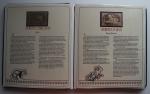 R/ THE LIVING TREASURES OF ASIA. Libro 30 Francobolli 23 karati, in un bellissimo libro di pelle. Set completo di 30 francobolli, MOLTO RARO. Ogni francobollo illustra la fauna asiatica. I testi sono in inglese.