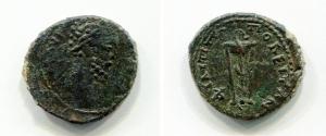 obverse: Commodo (180-192). Philippopolis. AE (20,3 mm. - 4,12 gr.). D.\: profilo di Commodo. R.\: tripode con serpente attorcigliato. RPC IV, 7608 . qBB. R.