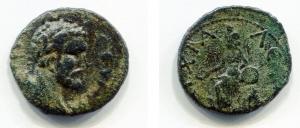 obverse: Septimius Severus (193-211), Anchialus. AE (21 mm. - 5,05 gr.). D.\: Profilo di Settimio Severo a destra. R.\: Cybele seduta con patera. qBB. NC