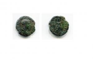 obverse: Eliogabalo (218-222), Moesia Inferiore, Nicopolis ad Istrum. AE (). D.\: bsto drappeggiato a destra di Eliogabalo. R.\: Thanatos a sinistra con torcia. SNG. Cop -; BMC -. BB. RR.