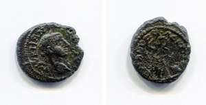obverse: Gordiano III (238-244). Hadrianopolis. AE (2,61g x 16mm). D.\: profilo Gordiano III. R.\: Caduceo. qBB. NC.