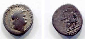 obverse: NERONE (54-68). AR Denarius (3,01 gr. - 16,9 mm.). R.\: SALVS. C.314-20. MB. NC.