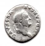 obverse: VESPASIANO (68-79), Roma. AR Denarius (2,94 gr.). R.\: PONT MAX TRP COS V - Caduceo alato. RIC II, 703. MC.