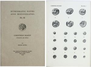 D/ Ravel, Oscar. Corinthian Hoards (Corinth and Arta). (ANSNNM No. 52). New York 1932. Brossura, pp. 27, tavv. 3