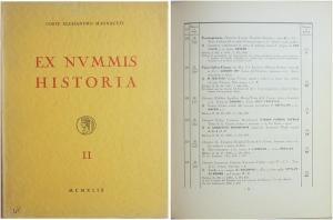 D/ Santamaria P.&P., Collezione Magnaguti, Ex Nummis Historia - Vol.II. Repubblica Romana all'Impero (fino al 98 d.C.). Roma 1949. Raro Brossura, 641 lotti, tavv. 28