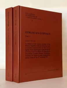 D/ Vecchi Italo. Etruscan coins (2 volumi) Milano, 2012 Cartonato, pp. 416+320, tavv. 135, 9 tabelle raro