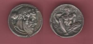 obverse: Mondo Greco. Naxos. AR Tetradracma gr. 7 (NON SI ACCETTANO RESI)