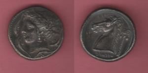 obverse: Mondo Greco. Siculo-Puniche. AR Tetradracma gr. 16 (NON SI ACCETTANO RESI)