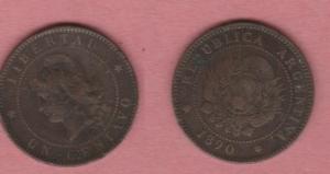 obverse: ARGENTINA, Repubblica. Centavo 1890 BB (NON SI ACCETTANO RESI)