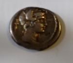 obverse: PLAETORIA. M. P. M. f. Cestianus (69 a.C.) AR Denario 3.65 gr. D/ Busto di Proserpina a destra, dietro spada. R/ Caduceo alato. Cr. 405/3b non comune BB con cartellino di Stefano Palma contromarca al D/