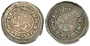 obverse: GORIZIA, Alberto II. (1274-1304) AR Denaro 0.86 gr. Paolucci 70 MEC XII, 891 molto rara SPL ex Franco de Braunizer, 1986 ex Sammlung RP