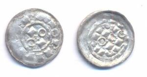 obverse: MILANO, Ottone II e III (973-1003) AR Denaro scodellato gr. 1.05. MIR 39 qSPL