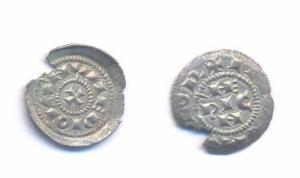 obverse: MILANO, Enrico II di Sassonia (1002-1024) AR Denaro scodellato. Crippa 1 BB