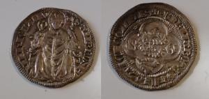 obverse: MILANO, Bernabò e Galeazzo II (1355-1378) AR Grosso da 2 Soldi 2.58 gr. Crippa 2/A SPL con cartellino di Stefano Palma