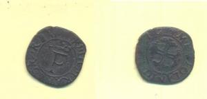 obverse: MILANO. Francesco I (1515-1522). Trillina. Mir 264 BB