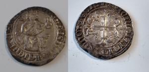 obverse: NAPOLI, Roberto d Angiò (1309-1349) AR Gigliato 3.97 gr. PR 2 BB+