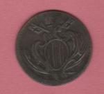 obverse: RAVENNA, Benedetto XIV (1740-1758) Cu Mezzo Baiocco 1750 gr. 4.25 Muntoni 582 BB con cartellino di Stefano Palma