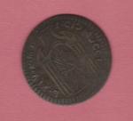 reverse: RAVENNA, Benedetto XIV (1740-1758) Cu Mezzo Baiocco 1750 gr. 4.25 Muntoni 582 BB con cartellino di Stefano Palma