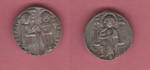 obverse: VENEZIA, Iacopo Contarini (1275-1280) AR Grosso 2.10 gr. Pao.1 BB