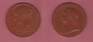 obverse: GRAN BRETAGNA, Vittoria (1837-1901) medaglia in bronzo per il 60° anniversario del Regno. In scatola originale. mm. 83