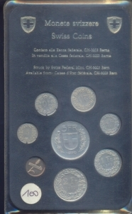 obverse: SVIZZERA, Serie Zecca 1979, 8 valori PROOF