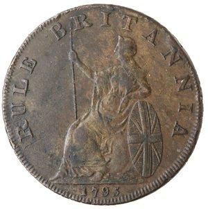 reverse: Token. Gran Bretagna. Hampshire. Emsworth. Earl Howe Halfpenny token 1795. Ae. D&H 15. D/ Busto di Earl Howe l. EARL HOWE & THE GLORIOUS FIRST OF JUNE. R/ Britannia seduta a sinistra. Sul contorno EMSWORTH HALFPENNY PAYABLE BY IOHN STRIDE X. Peso gr. 10,61. Diametro mm. 29,50. qSPL. Colpetti al bordo.