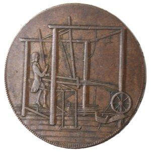 reverse: Token. Gran Bretagna. Norfolk. Norwich. Halfpenny Token 1792. Ae. D&H 38. D/ Castello con sotto il leone 1792. R/ Telaio. Sul contorno IOHN HARVEY OF NORWICH . X X X X. Peso gr.11,52. Diametro mm. 30. BB+.