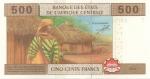 reverse: Banconote Estere. Africa Centrale. 500 Franchi 2002. FDS.