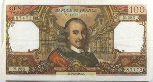 reverse: Banconote Estere. Francia. Lotto di 5 pezzi. 10 Franchi Voltaire. 100 Franchi Corneille. MB-BB.