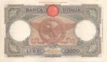 reverse: Banconote Italiane. Regno D Italia. 100 lire  Aquila Romana (Fascio). Dec. Min. 20-02-1941. Crapanzano 250. qSPL.