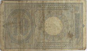 reverse: Banconote Italiane. Regno d Italia. 10 lire Effige Umberto I. Crapanzano BS40. Dec. Min. 28-12-1917. Strappo centrale in alto, diverse pieghe stirate. MB.