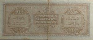 reverse: Banconote. Allied Military Currency. Serie 1943. 100 Am lire Bilingue FLC. Crapanzano  OS61C. Pieghe stirate, e strappo centrale in basso, nel complesso BB-BB+.