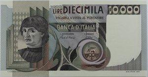obverse: Banconote Italiane. Repubblica. 10.000 lire A. Del Castagno. Dec Min. 6 Settembre 1980. Crapanzano 582. FDS.