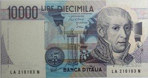 obverse: Banconote Italiane. Repubblica. 10.000 lire Alessandro Volta. Crapanzano 592. Dec. Min. 17.12.1984. FDS.