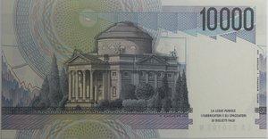reverse: Banconote Italiane. Repubblica. 10.000 lire Alessandro Volta. Crapanzano 592. Dec. Min. 17.12.1984. FDS.