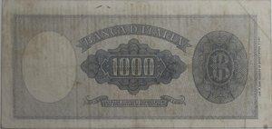 reverse: Banconote Italiane. Repubblica. 1.000 lire Italia (Testina ). Dec. Min. 20 Marzo 1947. Crapanzano 466. A. BI.690. BB stirata. RR.