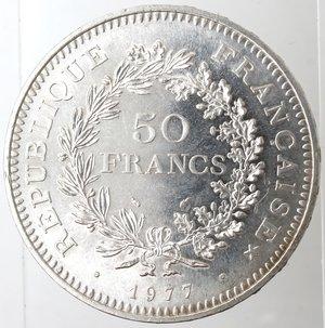 reverse: Monete Estere. Francia. 50 Franchi 1977. Ag 900. Km. 941.1. Peso 30 gr. FDC.
