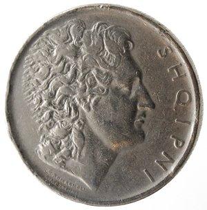 obverse: Monete Estere. Albania. Zog I. 1928-1939. Lek 1926. Ni. Km. 5. BB. Colpetto al bordo.