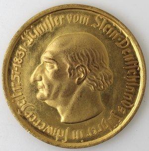 obverse: Monete Estere. Germania. 10000 Marchi 1923. Von Stein. Ot. Peso gr. 29,30. Diametro mm. 46. qFDC.