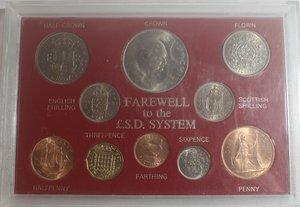 obverse: Monete Estere. Gran Bretagna. Confezione con 10 monete. Metalli vari. FDC.