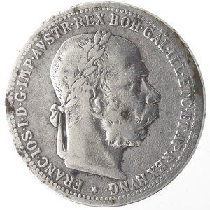obverse: Monete Estere. Austria. Francesco Guseppe. 1848-1916. Corona 1895. Ag 835. Km 2804. Peso 4,90 gr. qBB.