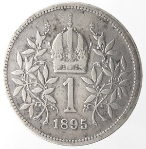 reverse: Monete Estere. Austria. Francesco Guseppe. 1848-1916. Corona 1895. Ag 835. Km 2804. Peso 4,90 gr. qBB.