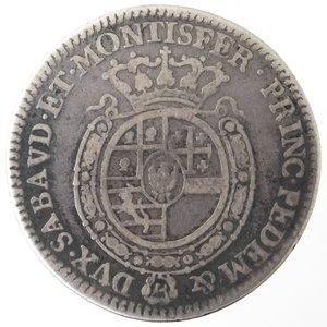reverse: Casa Savoia. Carlo Emanuele III. 1755-1773. 1/4 di Scudo. Torino. Ag. Nom. 194. Peso gr. 8,35. Diametro mm. 31. MB.