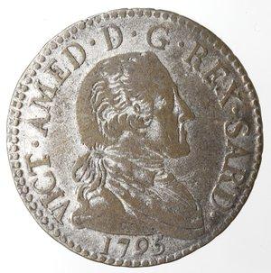 obverse: Casa Savoia.Vittorio Amedeo III. 1773-1796. 20 soldi 1795. MI. Mont. 372. Peso gr. 5,09. qBB.