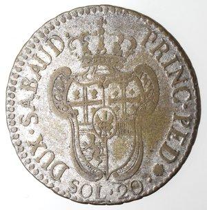 reverse: Casa Savoia.Vittorio Amedeo III. 1773-1796. 20 soldi 1795. MI. Mont. 372. Peso gr. 5,09. qBB.