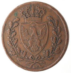 obverse: Casa Savoia. Vittorio Emanuele II. 1859-1861.Bologna. 5 centesimi 1826.Ae.M.133. BB. Colpetti al bordo. R.