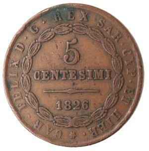 reverse: Casa Savoia. Vittorio Emanuele II. 1859-1861.Bologna. 5 centesimi 1826.Ae.M.133. BB. Colpetti al bordo. R.