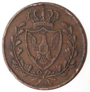 obverse: Casa Savoia. Vittorio Emanuele II. 1859-1861.Bologna. 3 centesimi 1826.Ae.M. 142. BB. Colpetti al bordo.
